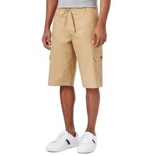 Sean John NEW Beige Men Size 30 Lightweight Drawstring Belt Cargo Shorts
