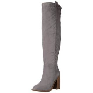 Very Volatile Womens nate Fabric Almond Toe Over Knee Fashion Boots