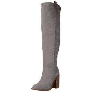 Very Volatile Womens nate Fabric Almond Toe Over Knee Fashion Boots (2 options available)