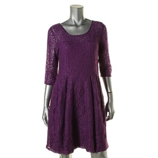 Betsey Johnson Womens Lace 3/4 Sleeves Casual Dress
