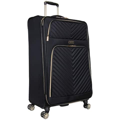 Kenneth Cole Reaction 'Chelsea' 28-Inch Chevron Quilted Expandable 8-Wheel Spinner Checked Suitcase