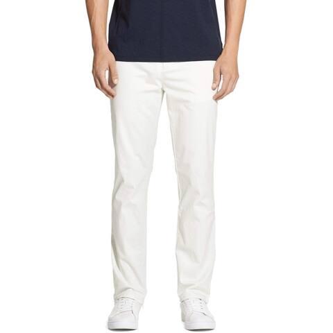 DKNY White Ivory Mens Size 30X30 Tapered Slim Chinos Stretch Pants
