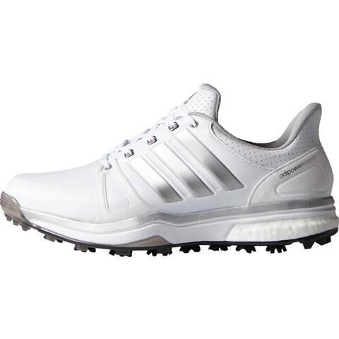 Adidas Men's Adipower Boost 2 White/Silver Metallic/Core Black Golf Shoes Q44659 / F33366