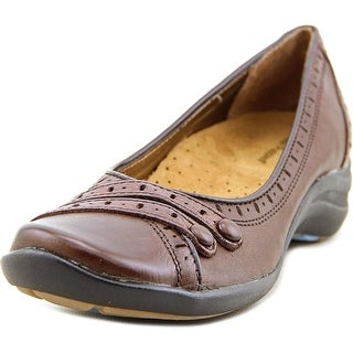 Hush Puppies Burlesque  W Round Toe Leather  Flats