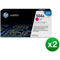 HP 504A Magenta Original LaserJet Toner Cartridge (CE253A)(2-Pack)