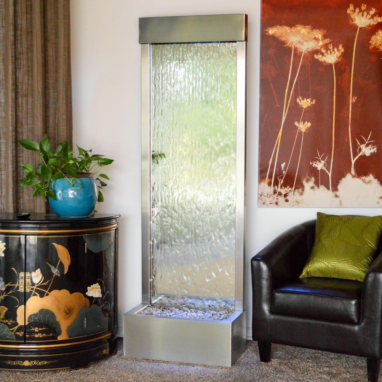 Bluworld Stainless Steel Gardenfall Fountain w/ Silver Mirror, 6-Foot - Thumbnail 0