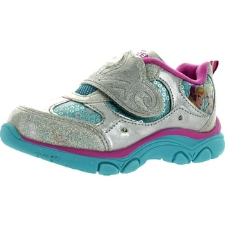 Disney Frozen Girls Elsa Fashion Sneakers - silver/blue/pink