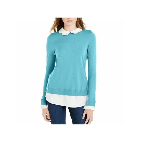 MAISON JULES Light Blue Long Sleeve Sweater M