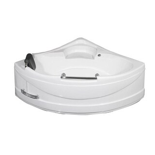 "Aston MT618 59"" Acrylic Whirlpool Bathtub for Corner Installations with Front Dr"