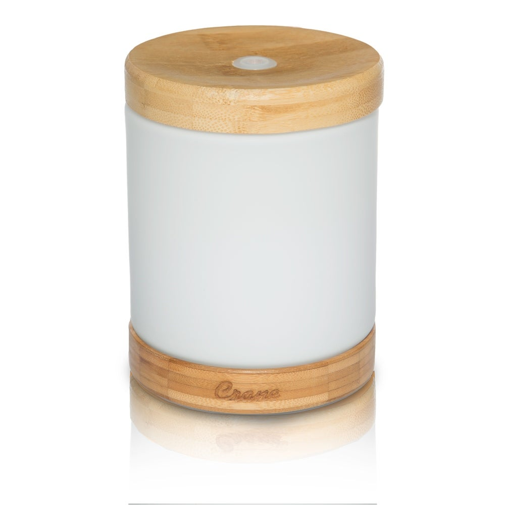 Crane Essential Oil Aroma diffuser Cool Mist Humidifier, Bamboo (White)