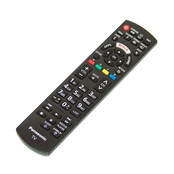 NEW OEM Panasonic Remote Control Specifically For: TC55LET64, TC-55LET64, TH37LRU50, TH-37LRU50
