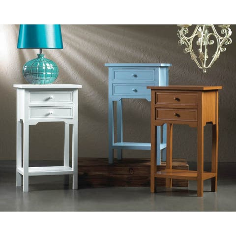 Double Drawer Side Table