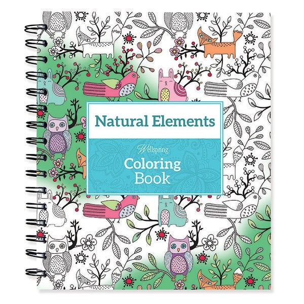 Spiral Bound Coloring Book 9X85 Natural Elements