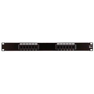 Monoprice 12-port Cat5e Patch Panel, 110 Type (568A/B Compatible)