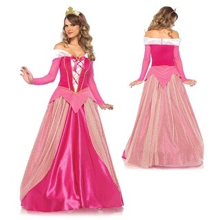 Womens Princess Aurora Ball Gown Disney Costume
