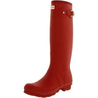 Hunter Womens Original Tall Rubber Round Toe Knee High Rainboots