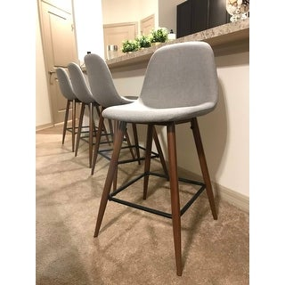 Pebble Mid-Century Modern Counter Stool (Set of 2) - N/A