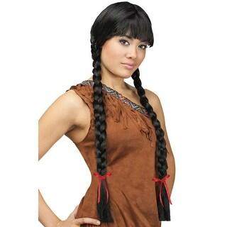 Fun World Classic Long Braids Costume Wig