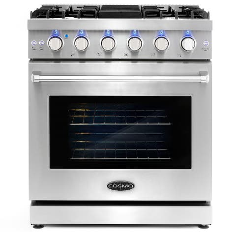 30 in. Freestanding Gas Range with 5 Sealed Burners and 4.5 cu. ft. Convection Oven in Stainless Steel
