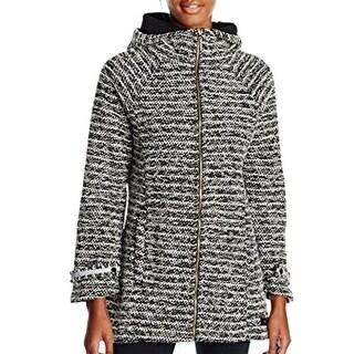 Calvin Klein NEW Black Women's Size Medium M Hood Walker Knit Jacket