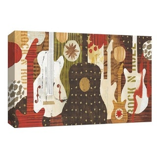 """PTM Images 9-153693  PTM Canvas Collection 8"""" x 10"""" - """"Rock and Roll Fantasy"""" Giclee Guitars Art Print on Canvas"""