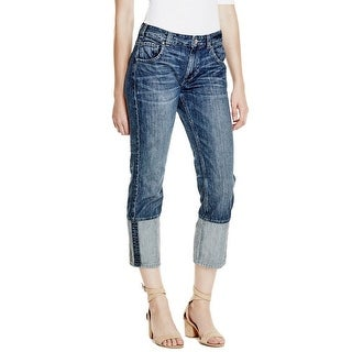 GUESS Alex Cuffed Straight Slouch Jeans - 28