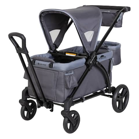 Baby Trend Expedition 2 in 1 Stroller Wagon Plus, Ultra Grey