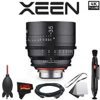 Rokinon Xeen 35mm T1.5 Lens for Canon EF Mount with Professional Accessory Kit - black
