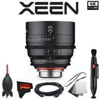Rokinon Xeen 35mm T1.5 Lens for PL Mount with Professional Accessory Kit - black