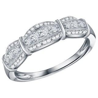 Prism Jewel 0.30Ct G-H/SI1-I1 Round Cut Natural Diamond Anniversary Ring