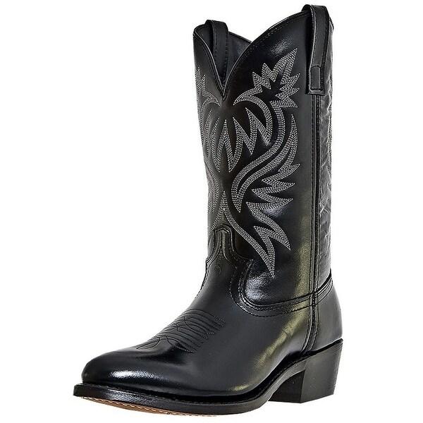 Laredo Western Boots Mens London Stitched Round Toe Black