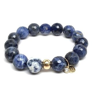 "Blue Sodalite Lauren 7"" Bracelet