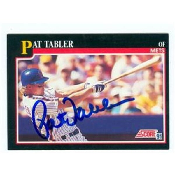 Pat Tabler Autographed Baseball Card New York Mets 1991 Score No