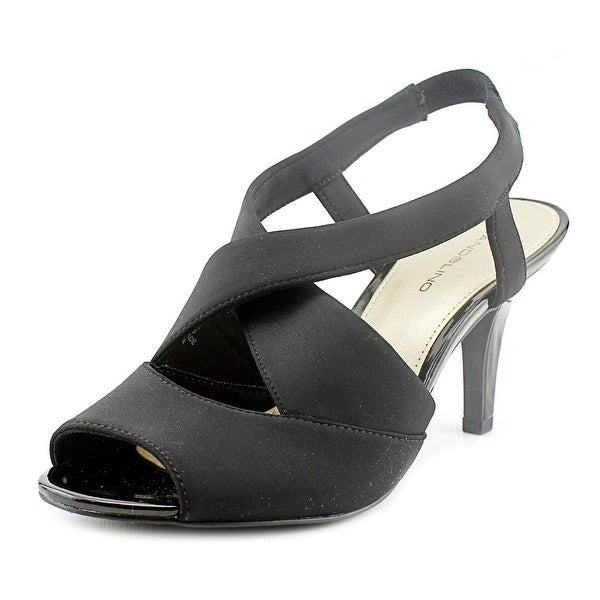 Bandolino Malorie Women Peep-Toe Synthetic Black Slingback Heel