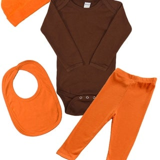 4-piece Baby Bodysuit, Pant, Cap & Bib Set