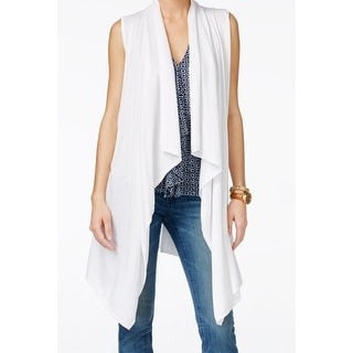 Michael Kors NEW White Women's Size Large L Vest Sleeveless Sweater