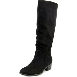 Madden Girl Persist Round Toe Canvas Knee High Boot
