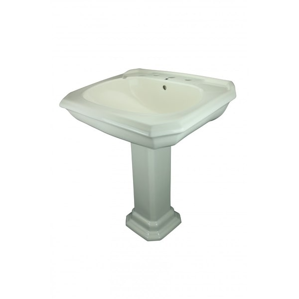 Bath Pedestal Sink Bone China 8 Widespread Kingsway | Renovator's Supply