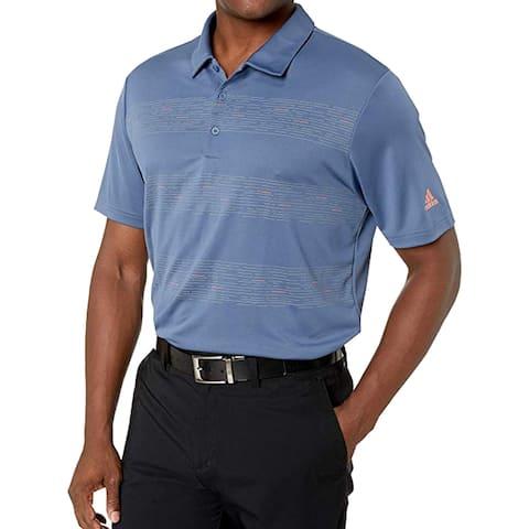 Adidas Men's Plaid Key Polo Golf Shirt