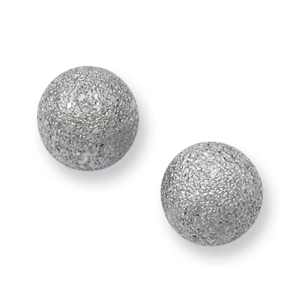 Stainless Steel Laser Cut 8mm Bead Post Earrings