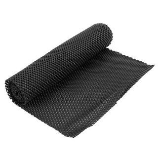"""Unique Bargains Multipurpose Tailoring Soft Foam Anti Slip Mat Black Gridding 59"""" x 11.8"""""""