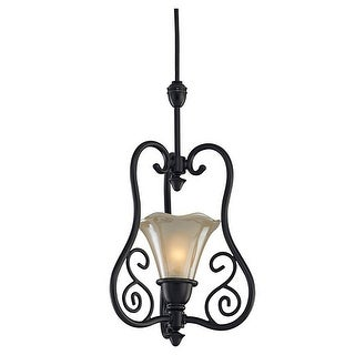 Sea Gull Lighting 94565-71 Trudy 1-Light Convertible Pendant, Bronze Finish - Antique Bronze