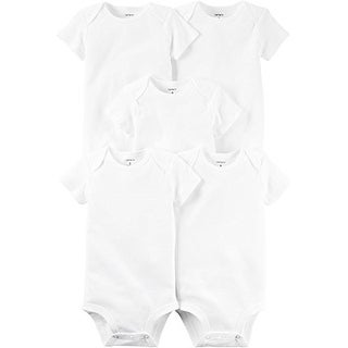 Carter's Baby Unisex 5-pack Short Sleeve Bodysuits - White - Newborn