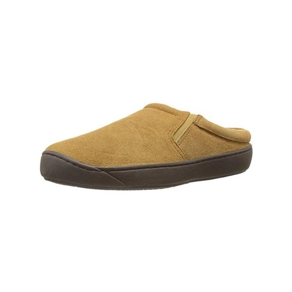 L.B. Evans Mens Alex Mule Slippers Suede Faux Fur