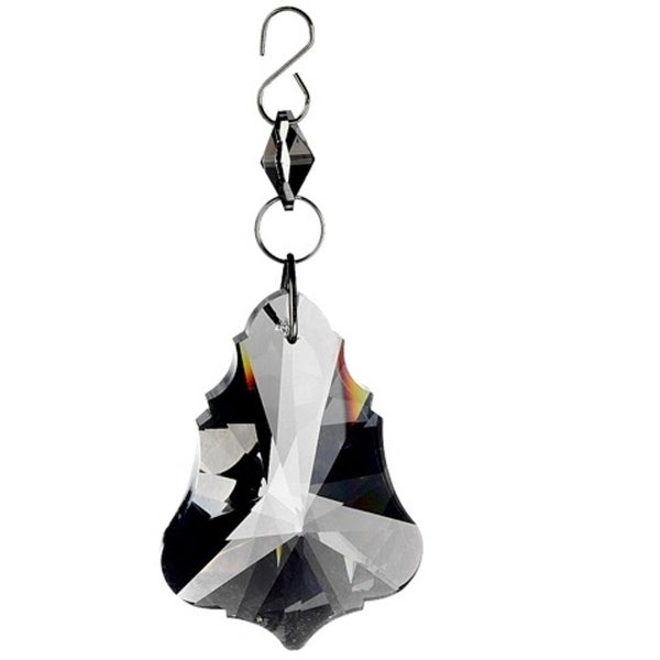 "5"" Seasons of Elegance Smokey Gray Prismatic Jewel Dangle Christmas Ornament"
