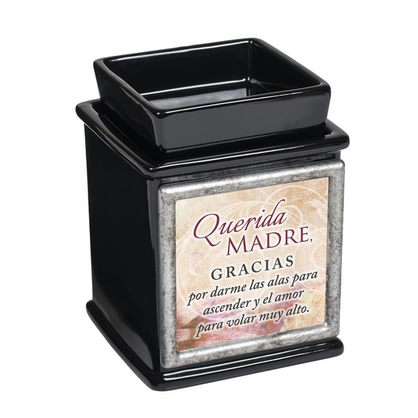 "Black and Silver Colored Gracis Madre Interchangeable Candle Warmer 5"" - N/A"
