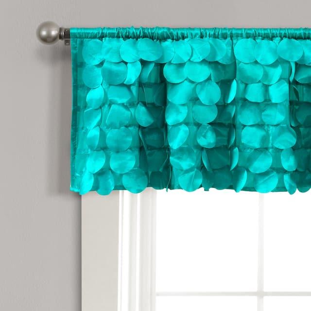 Lush Decor Gigi Window Curtain Valance - Turquoise