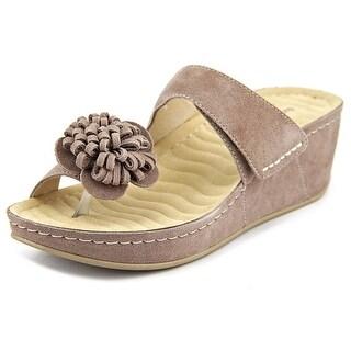 David Tate Jolly N/S Open Toe Suede Platform Sandal