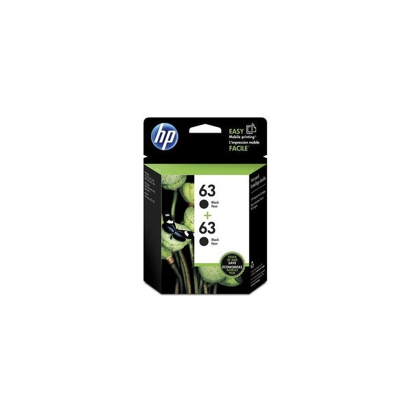 HP 63 2-Cartridges Black Original Ink Cartridge (T0A53AN)(Single Pack)
