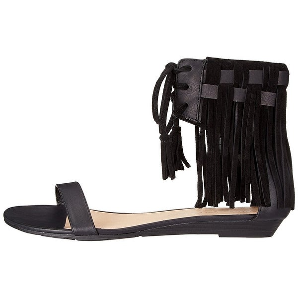 Very Volatile Womens Aubrey Leather Open Toe Casual Ankle Strap Sandals - 7